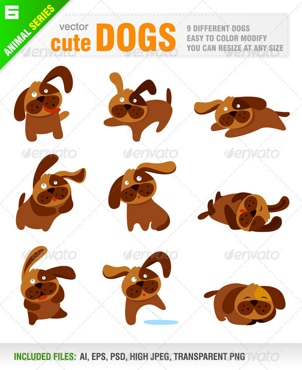 Cute Dogs - Animals Characters