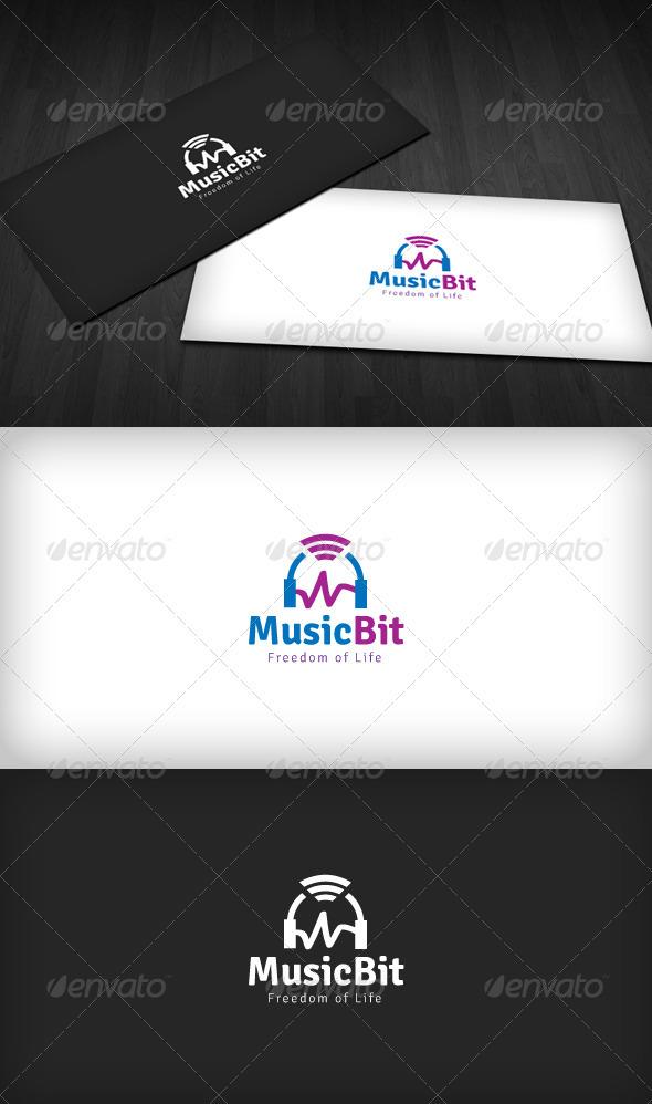 Music Bit Logo - Symbols Logo Templates