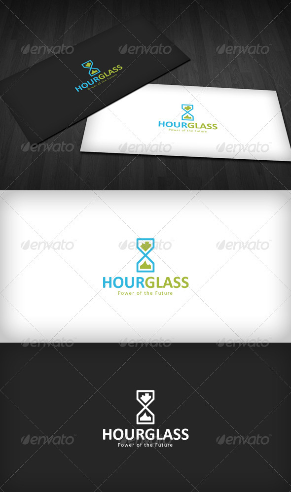 Hourglass Logo - Vector Abstract