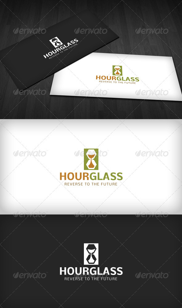 Hourglass Logo 2 - Vector Abstract