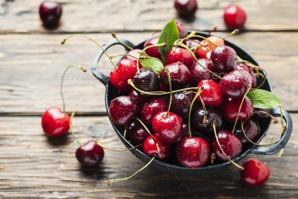 Sweet fresh cherry - Stock Photo - Images