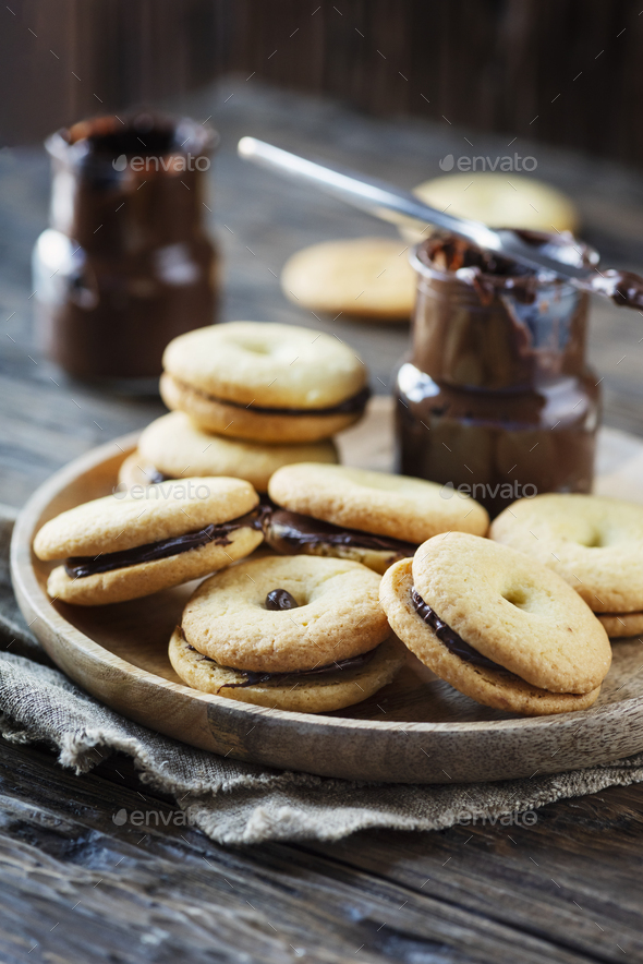 Homemade cookies with chocolate - Stock Photo - Images