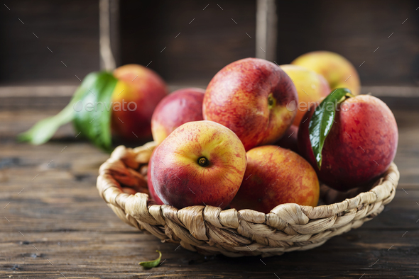 Fresh sweet peaches - Stock Photo - Images