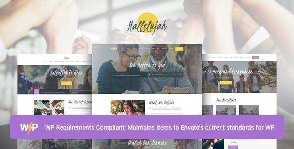 Hallelujah   Church & Religion WordPress Theme