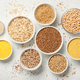 Set with various cereal grains on stone background - PhotoDune Item for Sale