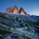 The Three Peaks of Lavaredo (Tre Cime di Lavaredo) at sunset, Dolomites mountains, Italy, Europe - PhotoDune Item for Sale