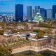 Osaka castle in cherry blossom season, Osaka, Japan - PhotoDune Item for Sale
