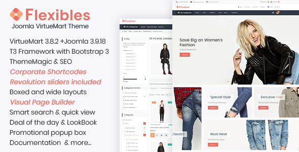 Flexibles – Fashion VirtueMart Template