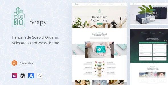 Soapy Handmade Organic Skincare Wordpress By Fox Themes Themeforest