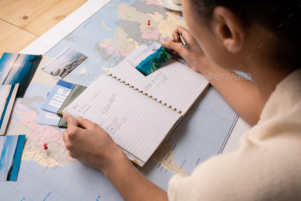 Tourist planning places to visit - Stock Photo - Images