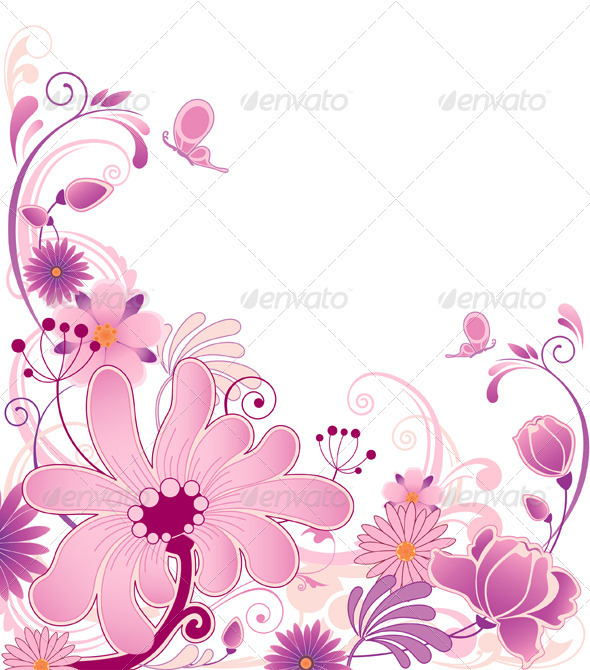 Floral Background with Flowers - Flowers & Plants Nature