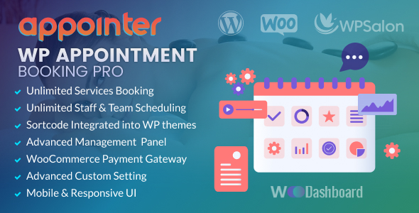 WP Appointment Booking & Scheduling with Woocommerce