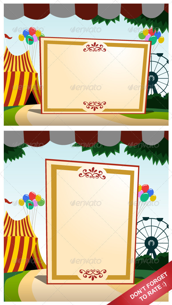 Carnival Blank Board - Backgrounds Decorative