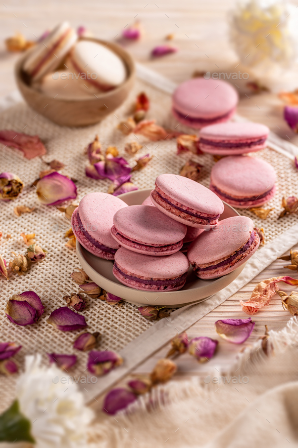 Pink French macarons - Stock Photo - Images