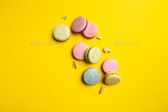 Colorful macaron cakes - Stock Photo - Images