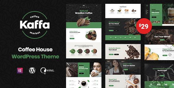 Download Kaffa – Cafe & Coffee Shop WordPress Theme Free Nulled
