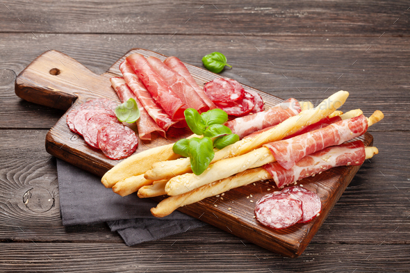 Various meat antipasto - Stock Photo - Images