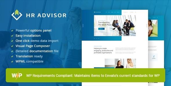 HR Advisor   Human Resources & Recruiting WordPress Theme