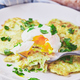 Zucchini pancakes poached egg - PhotoDune Item for Sale