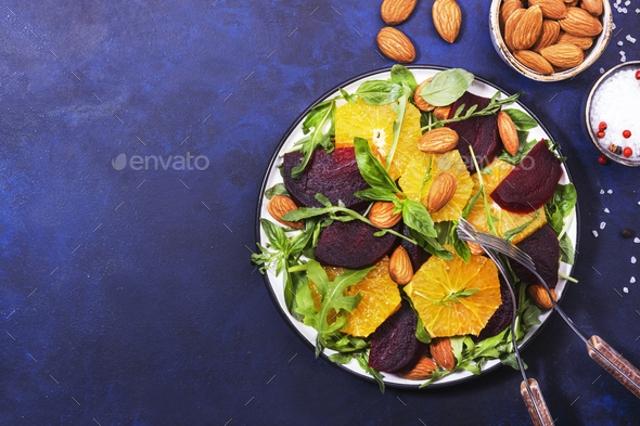 Beetroot Salad with Orange - Stock Photo - Images