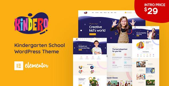 Download Kindero – Kindergarten School WordPress Theme Free Nulled