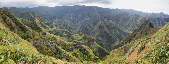 Chinamada, Anaga massif, Tenerife, Canary Islands, Spain. - Stock Photo - Images