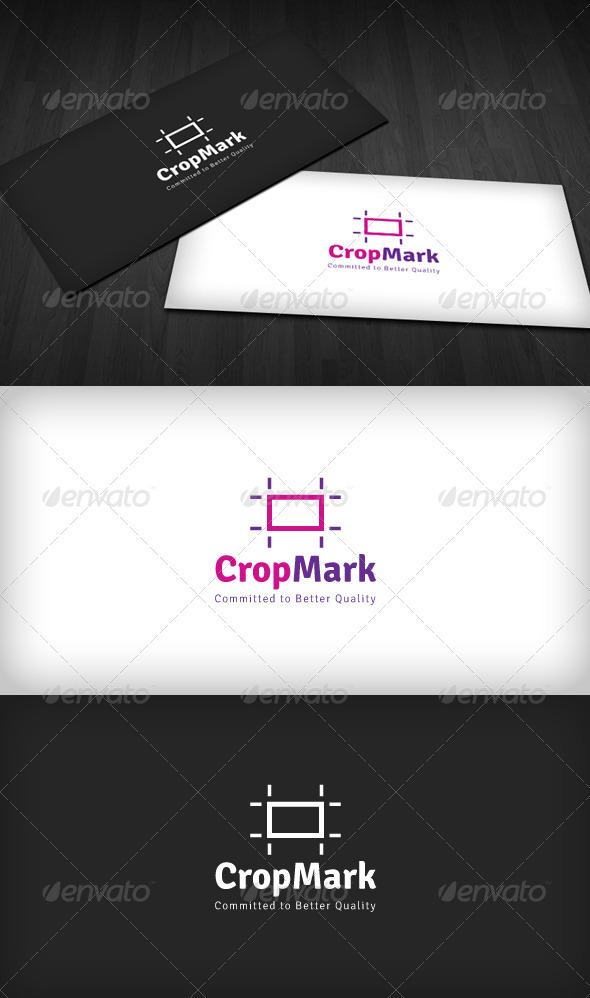 Crop Mark Logo - Vector Abstract