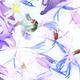 Blue Floral Pattern - PhotoDune Item for Sale