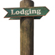 Rustic Wooden Lodging Sign - PhotoDune Item for Sale