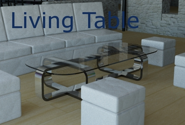 Living Table - 3DOcean Item for Sale