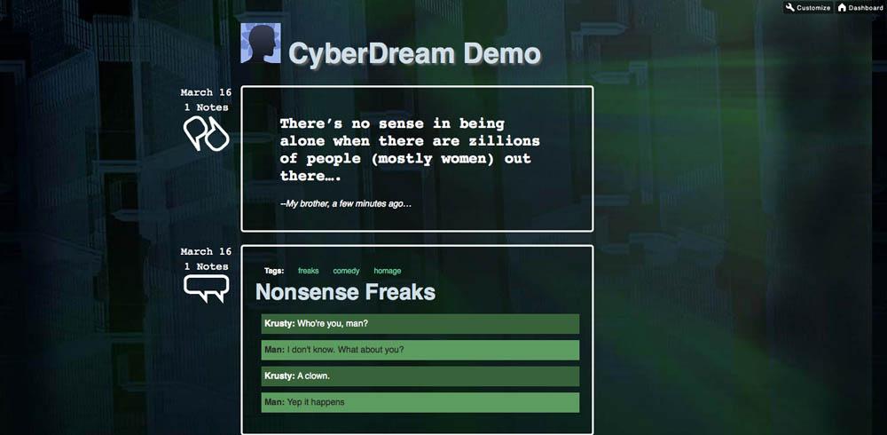 CyberDream - Tumblr Theme