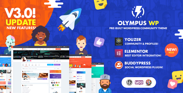 Olympus - Social Networking WordPress Theme ( BuddyPress )
