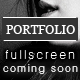 Coming Soon Page with a Full Screen Portfolio Nulled