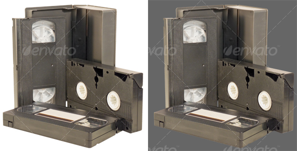 VHS videotapes - Technology Isolated Objects
