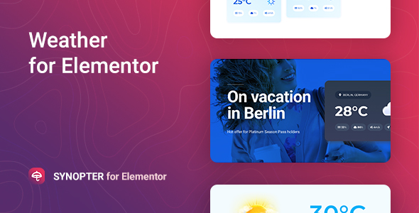 Synopter – Weather for Elementor
