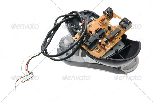 Broken Computer Mouse - Stock Photo - Images