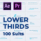 100 Lower Thirds Suits | MOGRT - VideoHive Item for Sale