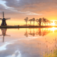 Dutch windmill during beautiful sunrise - PhotoDune Item for Sale