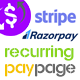 Recurring PayPage - PHP Ready to Integrate Payment Gateways for Subscriptions