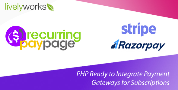 Recurring PayPage - PHP Ready to Integrate Payment Gateways for Subscriptions }}
