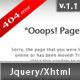 Fancy Jquery 404 Error Popup Nulled