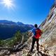 Hiker takes aama. Mont Blanc Massif rest - PhotoDune Item for Sale