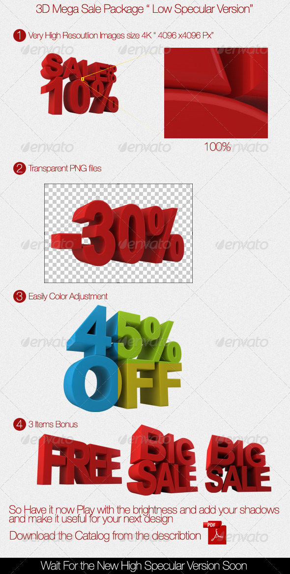 3D Mega Sale Package - Text 3D Renders