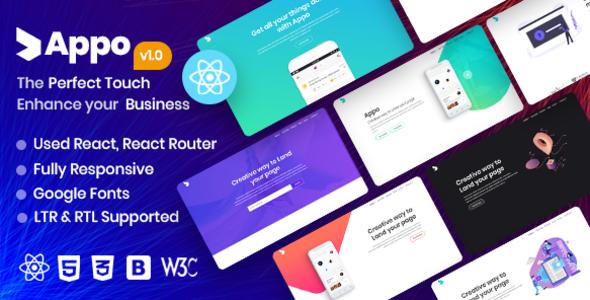 appo | React App Landing Page