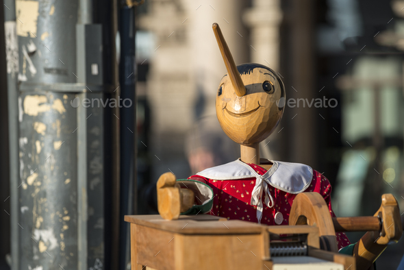 Music box with Pinocchio - Stock Photo - Images