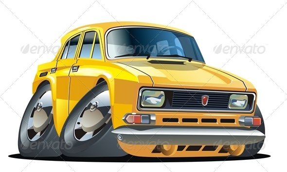Vector Cartoon Car - Man-made Objects Objects