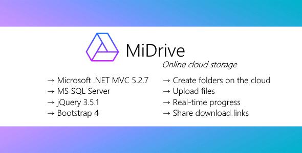MiDrive - Cloud storage