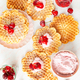 Sweet waffles with cherries - PhotoDune Item for Sale