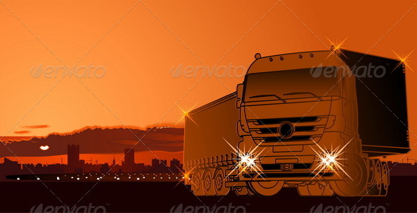 Vector Abstract Logistic Theme Background - Industries Business