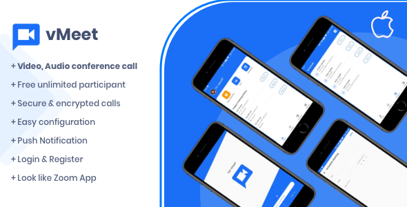 Vmeet - A Complete Video Conferencing iOS App }}